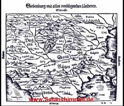 Landkarte zeigt Transsylvanien, die wahre Heimat vom Vampir.