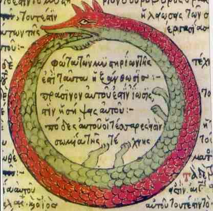 Symbole der Alchemie Schlange