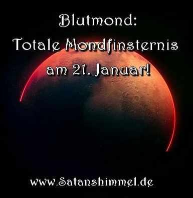 Blutmond 2019, wer ihn für Magie Rituale nutzen wollte, musste früh aufstehen.