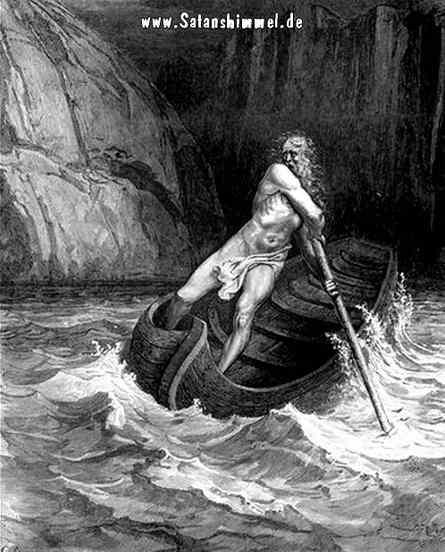 Charon auf dem Fluss in die Unterwelt.