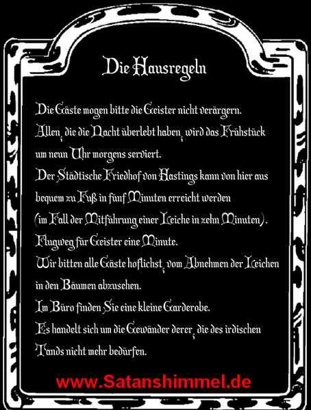 Aleister Crowley Hausregeln