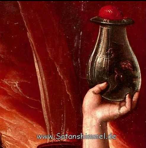 Geistes, der beschworen wurde und in einer Flasche gefangen gehalten wird.