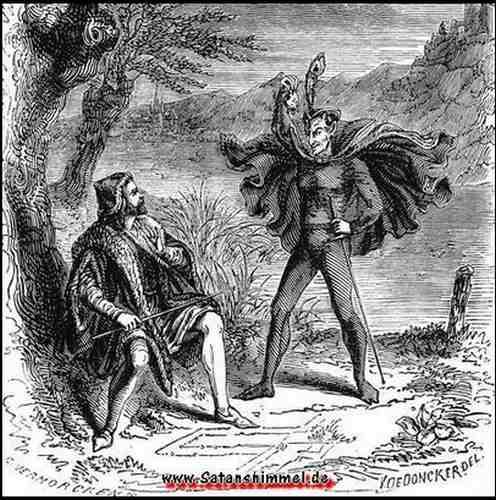 Goethes Faust Teufelspakt mit Mephisto