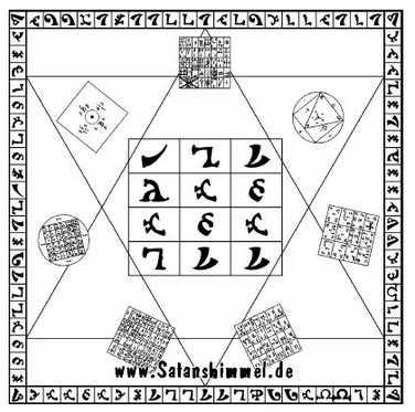 Henochische Sprache mit dem heiligen Tisch von John Dee