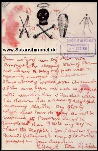 Jack the Ripper Brief 14. Oktober 1896.
