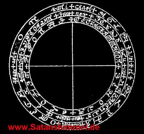 Okkultismus Symbole auf dem magischen Schutzkreis.