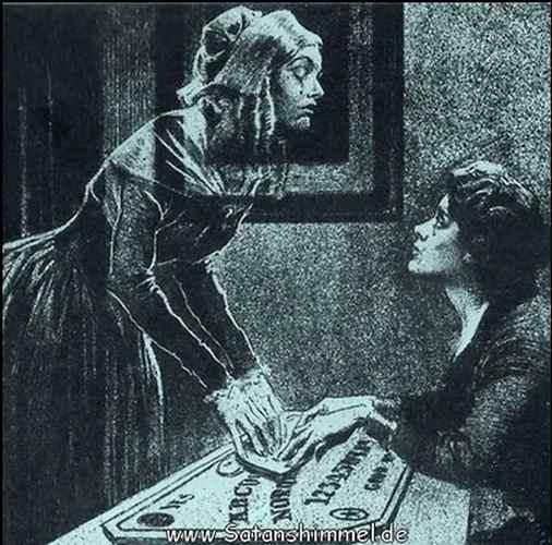 Geisterbeschwörung mit dem Ouija-Board.
