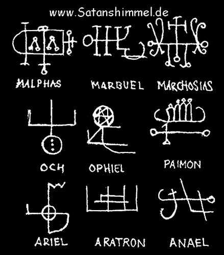 Tafel mit Voodoo Zauber für schwazre Magie.