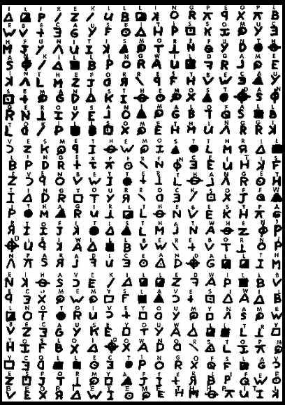 Vom Ehepaar Harden entschlüsselte Kryptogramm vom Zodiac-Killer